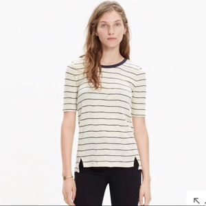 Madewell | Ribbed Knit Striped Tee sz S